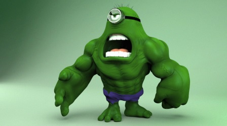 Superhero Minions Minions Hulk