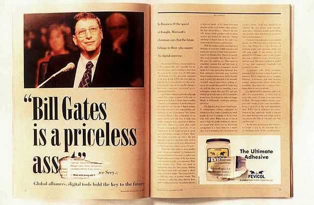 Creative Advertising - Fevicol Bill Gates