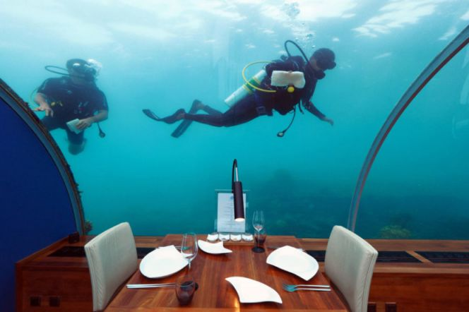Ithaa First Underwater Restaurant Will Take Your Breath Away
