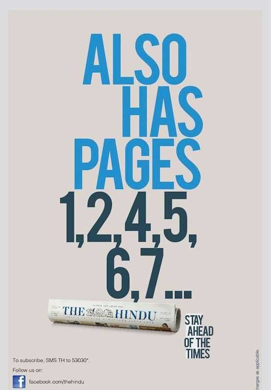 Creative Advertising - The Hindu ad