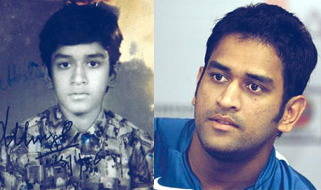 Cricketers-Childhood-Photos-Dhoni