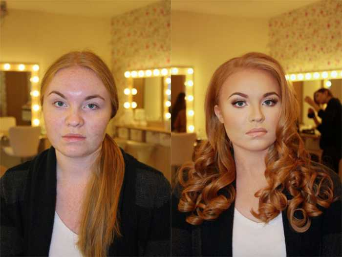 before and after makeup - 1