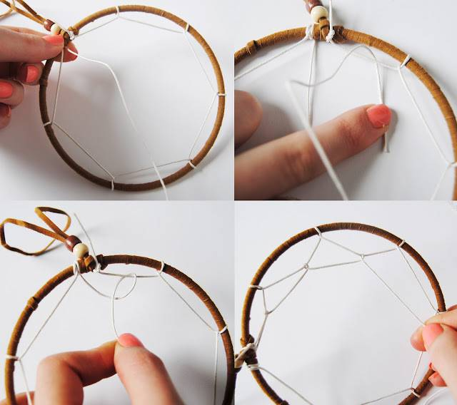 How to make a dreamcatcher simple steps with pictures for How to make dreamcatcher designs