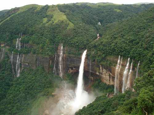 Amazing Places In India Nohkalikhali Falls Cherrapunji