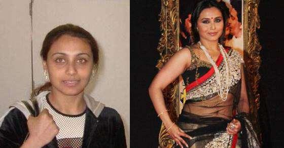 Bollywood Actress Without Makeup Rani