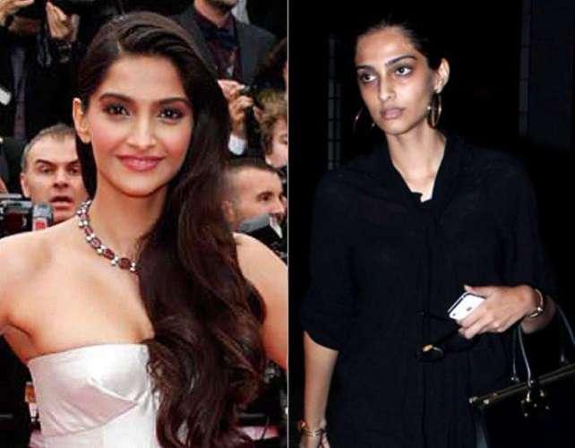 Bollywood Actress Without Makeup Sonam