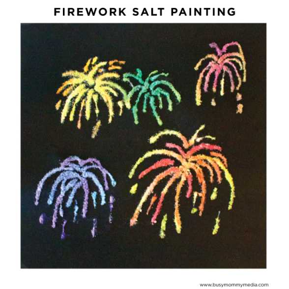 Fun-Crafts-for-Kids-DIY-firework-salt-painting