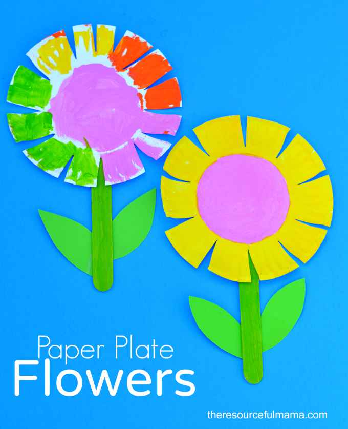 Fun Crafts For Kids DIY Paper Plate Flowers