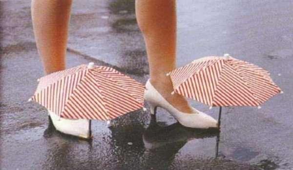 Funny Crazy Weird Japanese Inventions Shoe Umbrella