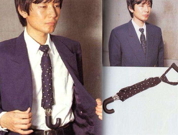 Funny Crazy Weird Japanese Inventions Tie Umbrella