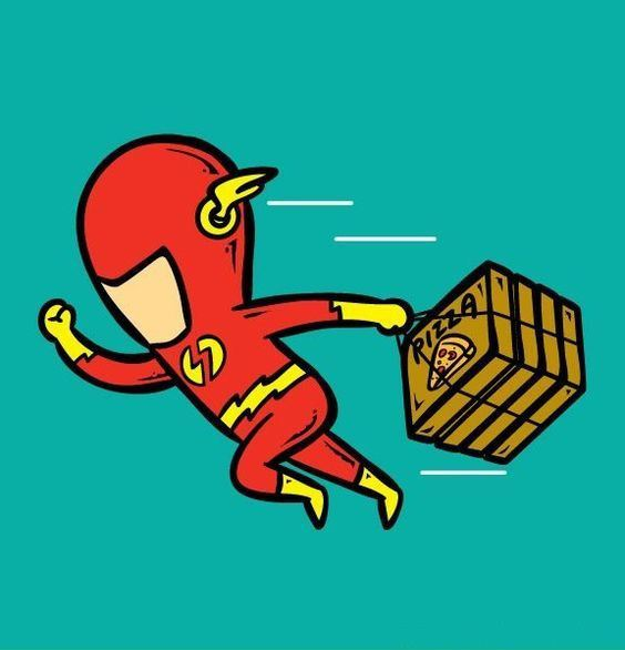 Funny-Superheroes-Illustrations-Working-Flash