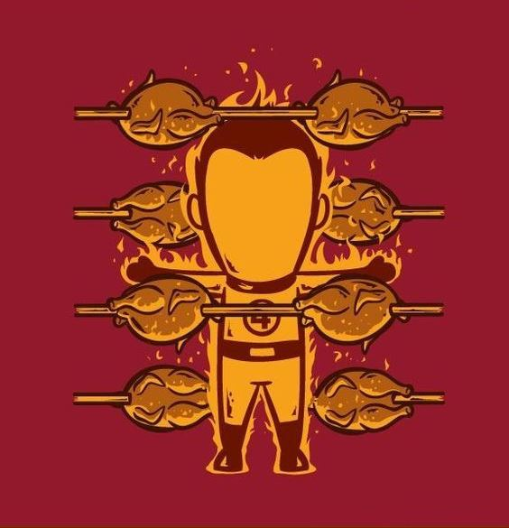 Funny-Superheroes-Illustrations-Working-Human-Torch