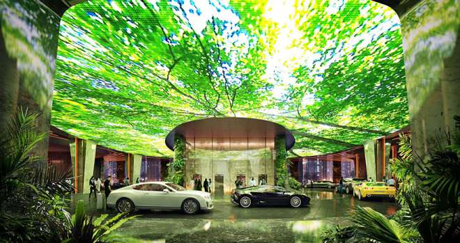 Rainforest-Hotel-Rosemont-Dubai-Luxury-Car-Parking