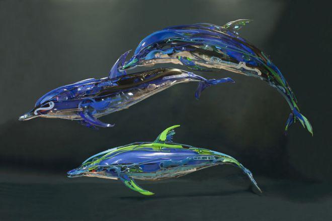 Sayaka Ganz Recycled Art dolphin