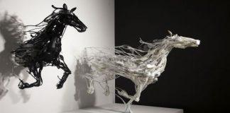 Sayaka Ganz Recycled Art horses