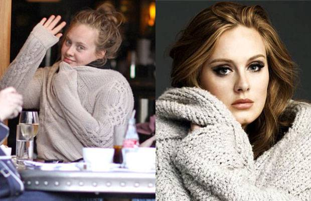 Celebrities Without MakeUp Adele