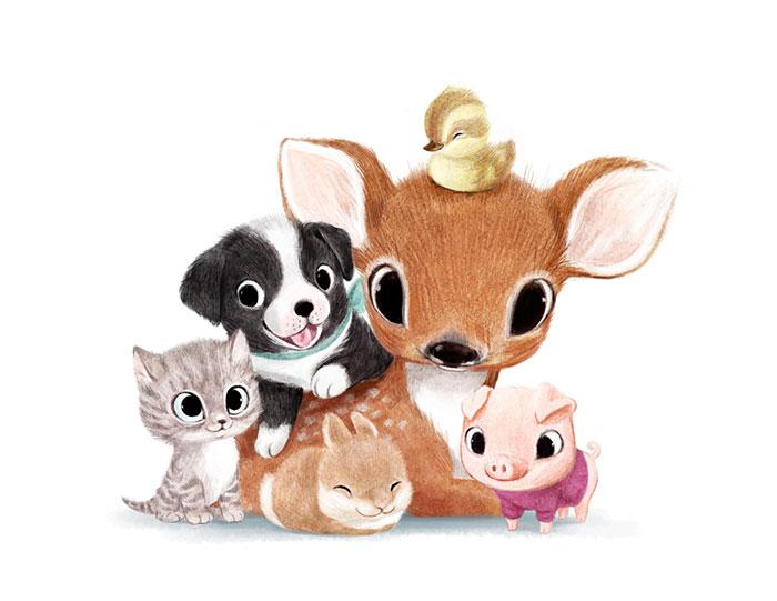 Cute-Animal-Illustrations-All-Syndey-Hanson