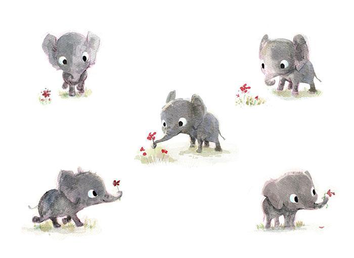 Cute-Animal-Illustrations-Elephant-Syndey-Hanson