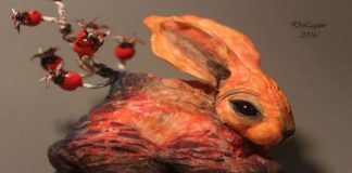 dmitry lagun fantasy animals rabbit mythical creatures