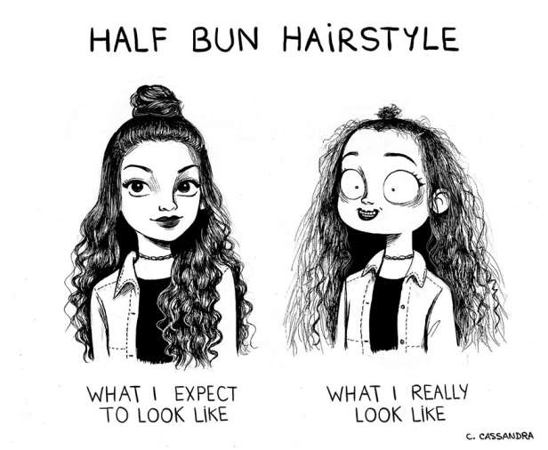 Everyday Woman Problems Comic hairstyle