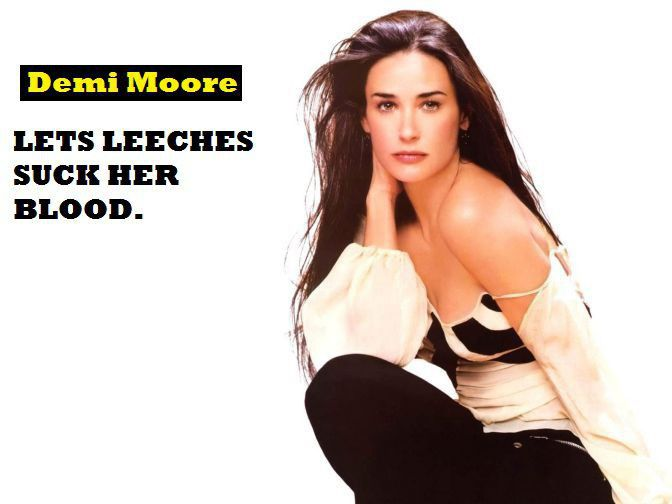 Weird-Habits-of-Celebrities-Demi-Moore