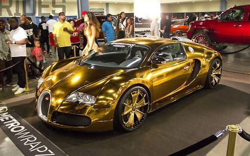 Expensive-Celebrity-Cars-Flo-Rida-Golden-Bugatti-Veyron