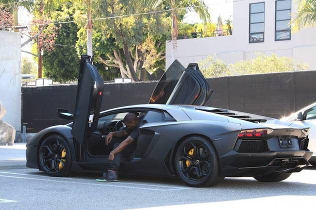 Expensive-Celebrity-Cars-Kanye-West-Lamborghini-Aventador