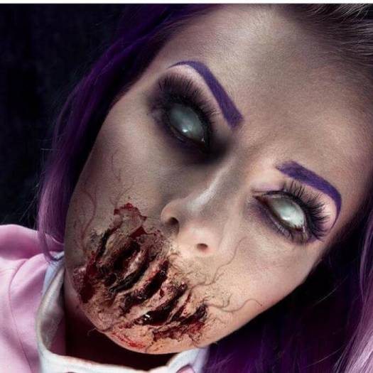 An Artist, Sarah Mudle Took The Scary Halloween Makeup To A New Level