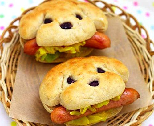 Easy-Food-Art-Kids-Hot-dogs