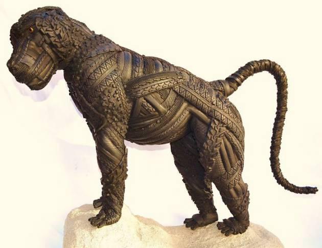 Blake-McFarland-Tire-Sculptures-Baboon
