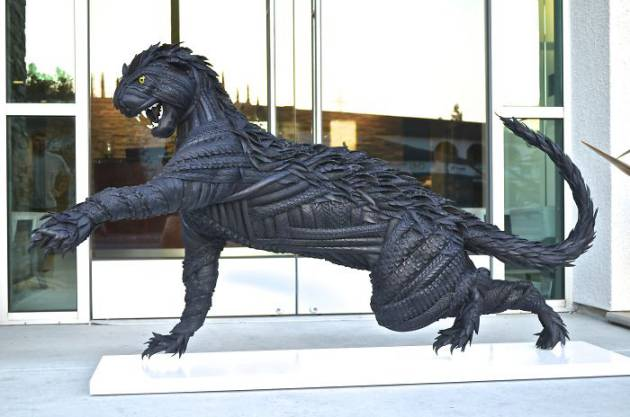 Blake-McFarland-Tire-Sculptures-Cougar