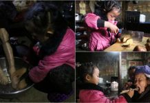 Anna Wang Chinese Girl Helping Grand Parents (8)