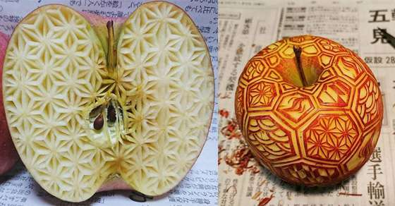 These food carvings by japanese artist gaku are so amazing