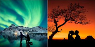 Photographer Proposed Under Northern Lights