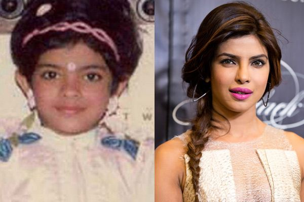 Priyanka-Chopra-Childhood-And-Now