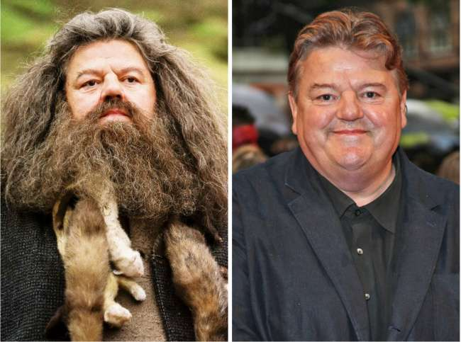 Rubeus-Hagrid-played-by-Robbie-Coltrane-Then-Now