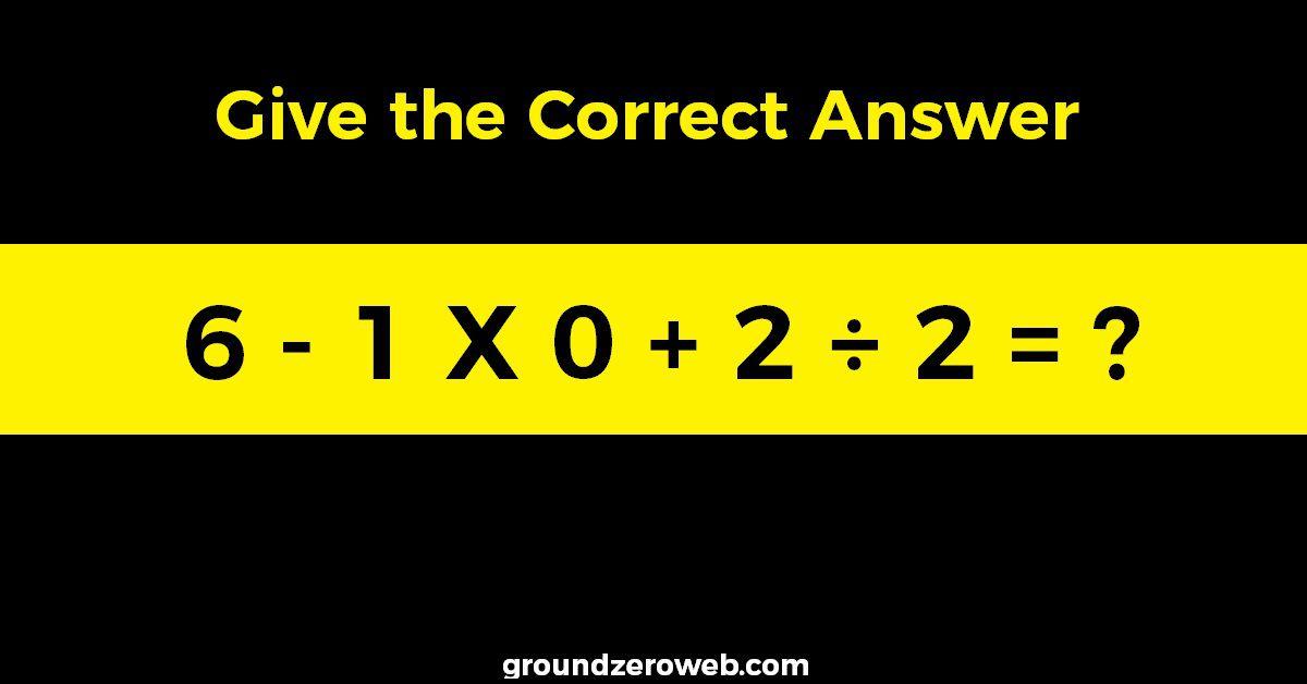 Tricky-Math-Equation
