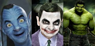 Photoshopped Mr Bean