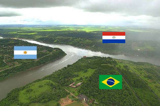 International-Border-Argentina-Brazil-And-Paraguay