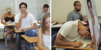 Hilarious Way To Sleep in Class