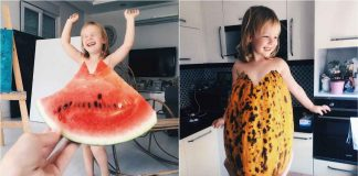 Mom uses Food-Flowers Dress Daughter (9)