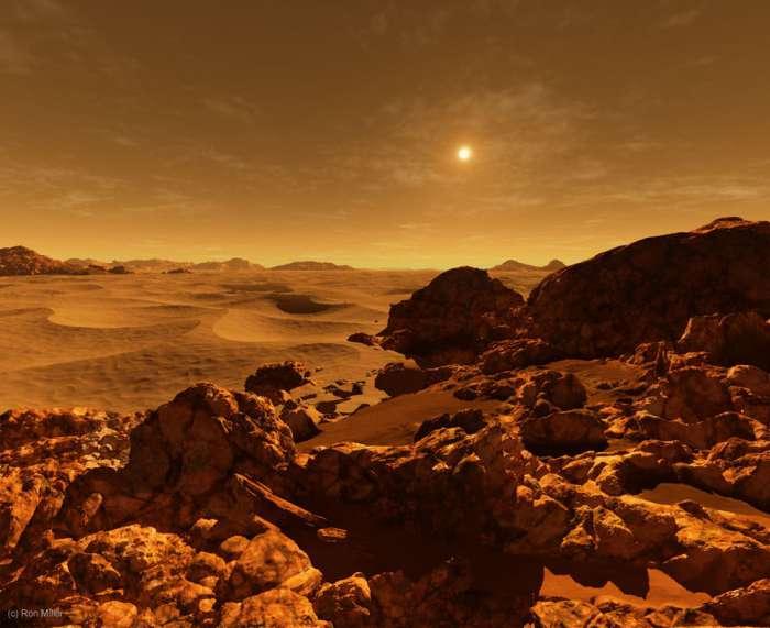 Восход Солнца-Марс