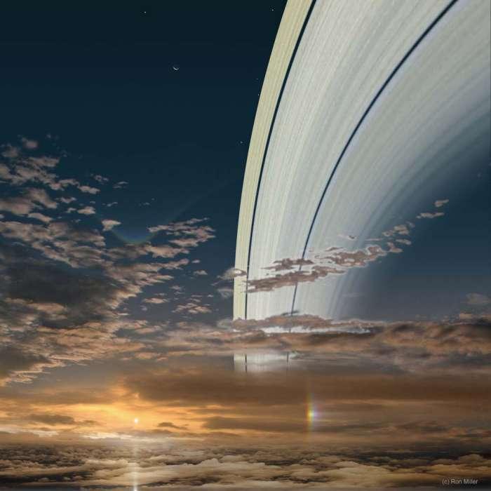 Восход Солнца-Сатурн